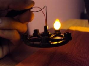 Lampara con llama blanda de Playmobil con efecto fuego