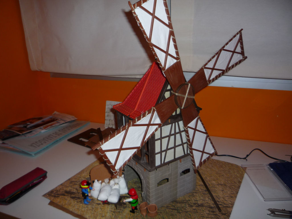 Molino de viento medieval Playmobil con movimiento