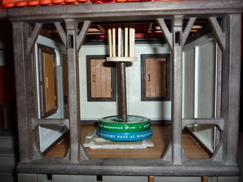 Detalle interior molino sin pintar