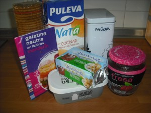 Ingredientes tarta de queso con fresa
