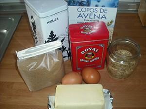 Ingredientes copos de avena y sésamo