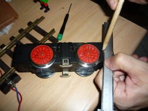 Marcando el sobrante de la caja del motor