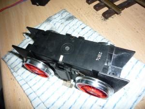 Caja de motor cortada