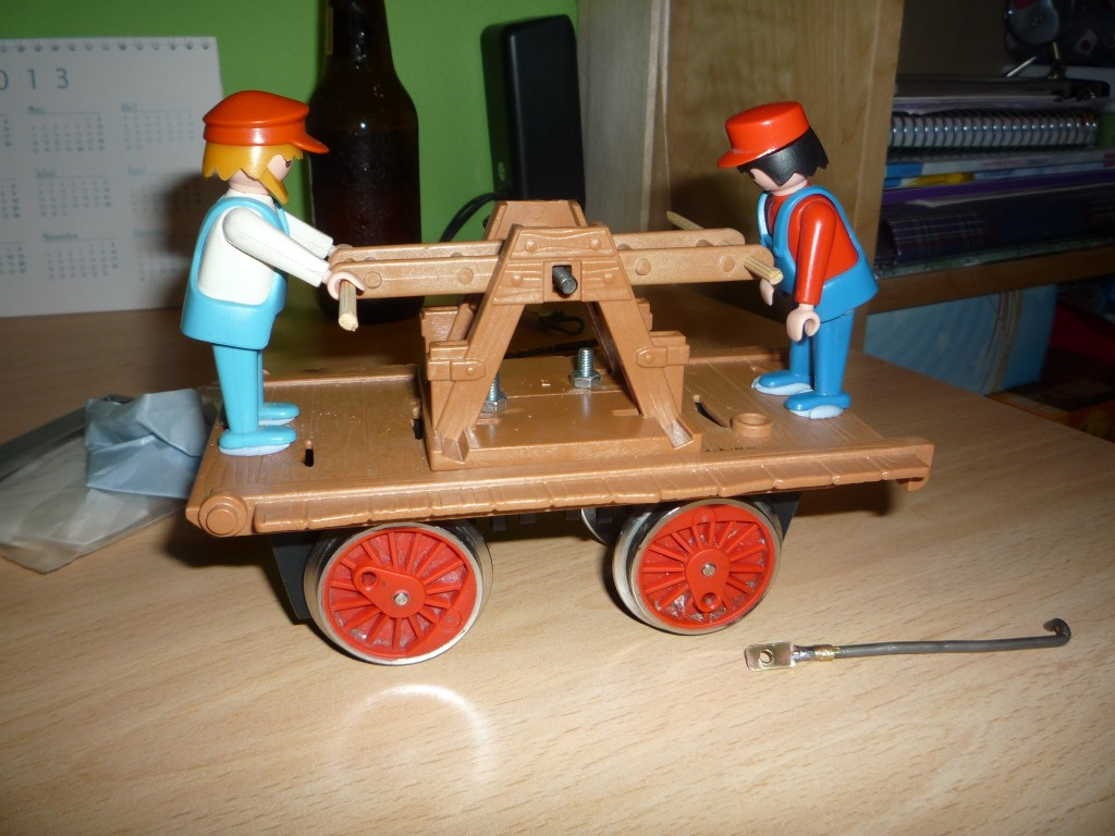Posicion central de la palanca y muñecos