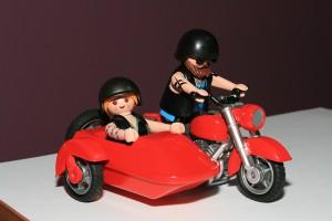 Moto con sidecar Playmobil